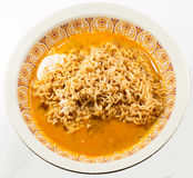 Instant noodles with egg Stock Image
