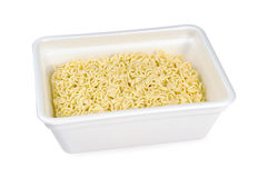 Instant noodles in a foam plate Royalty Free Stock Photography