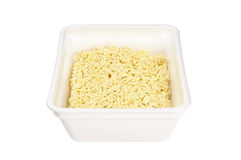 Instant noodles in a foam plate Royalty Free Stock Images