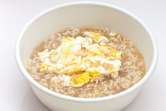 Instant noodles with fried egg Stock Photography