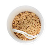 Instant noodles. Isolated on background Stock Photography