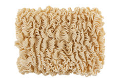 Instant noodles. Isolated on white background Royalty Free Stock Photos