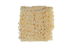 Instant noodles isolated on white background Stock Photos