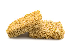 Instant noodles isolated on white background. Closeup of instant noodles isolated on white background Royalty Free Stock Photos
