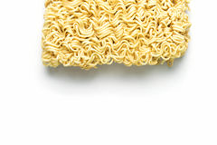 Instant noodles isolated on white background stock photography