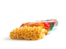 Instant noodles with package Royalty Free Stock Photo