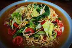 Instant noodles Salad Stock Photo