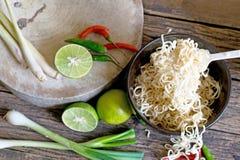 Instant noodles selection focus at noodle. Instant noodles food selection focus at noodle Stock Images