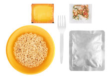 Instant noodles set Royalty Free Stock Image