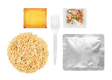 Instant noodles set Royalty Free Stock Photos