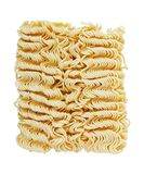 Instant noodles on white. Instant noodles on a white background stock photography