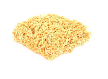Instant noodles on white background. Instant noodles. In the year you are in the Asia-Oceania region Stock Photos
