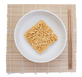 Instant noodles on white background. Royalty Free Stock Photography