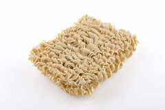 Instant noodles. On white background Royalty Free Stock Photo