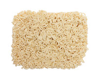 Instant noodles on white background. Dried instant noodles on a white background Stock Images
