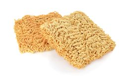 Instant noodles on white background royalty free stock photo