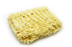 Instant noodles on white background Stock Image