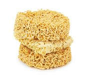 noodles on a white Royalty Free Stock Photography