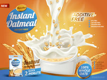 Instant oatmeal ad Stock Photos