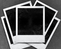 Instant photo. With black area with room to add image Stock Photography