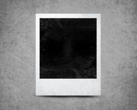Instant photo. With black area with room to add image Stock Photos
