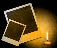 Instant photo. With black area with room to add image and candle Royalty Free Stock Image