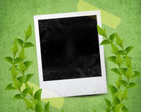 Instant photo. With black area with room to add image Royalty Free Stock Photos