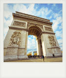 Instant photo of Arch of Triumph Stock Photo