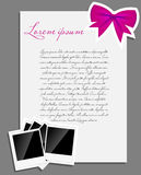 Instant photo background blank page vector Royalty Free Stock Photography