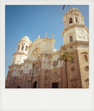 Instant photo of cathedral of Cadiz Royalty Free Stock Photo