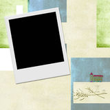 Instant photo frame Communion invitation background Stock Images