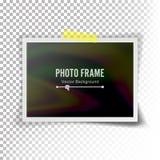 Instant Photo Frame Vector. Photorealistic Illustration Of Retro Style Photo Frame Isolated On Transparent Background Stock Photography