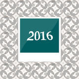2016 in instant photo frames on abstract background Royalty Free Stock Images