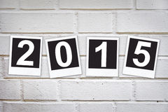 2015 in instant photo frames Royalty Free Stock Photography