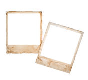Instant photo frames isolated on white background Stock Photos