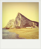Instant photo of Gibraltar Stock Image