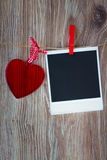 Instant photo and   heart Royalty Free Stock Images