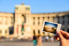 Instant Photo Of Hofburg Palace Royalty Free Stock Photos