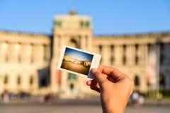 Instant Photo Of Hofburg Palace royalty free stock photo