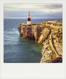 Instant photo of Lighthouse of Europa Point Stock Images