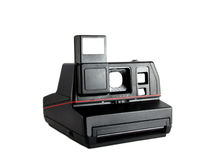 Instant photo old camera Royalty Free Stock Image