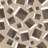Instant photo pattern on brown Royalty Free Stock Image