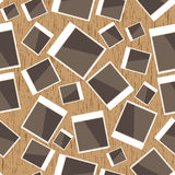 Instant photo pattern on wood Stock Image