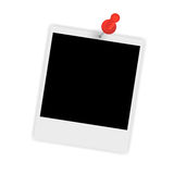 Instant photo with pin vector illustration Royalty Free Stock Photos