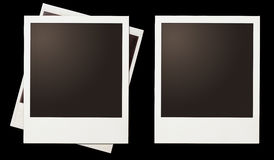 Instant photo polaroid frames set isolated on black Royalty Free Stock Photos