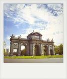 Instant photo of The Puerta de Alcala Stock Images