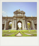 Instant photo of The Puerta de Alcala Stock Photography