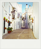 Instant photo of Vejer de la Frontera, Andalusia Stock Image