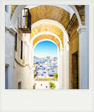 Instant photo of Vejer de la Frontera, Andalusia Royalty Free Stock Images