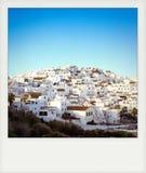 Instant photo of Vejer de la Frontera, Andalusia. Spain Stock Photos